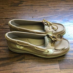 Tan & Gold Sperry Top-Sider Shoes Like New